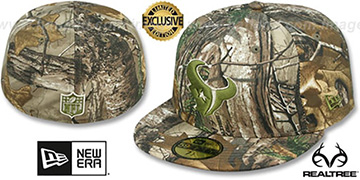 Texans NFL TEAM-BASIC Realtree Camo Fitted Hat by New Era