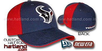 Texans 'PINWHEEL' Navy-Red Fitted Hat by New Era
