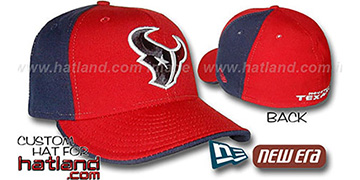 Texans 'PINWHEEL' Red-Navy Fitted Hat by New Era
