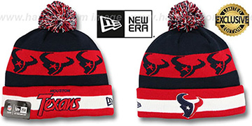 Texans REPEATER SCRIPT Knit Beanie Hat by New Era