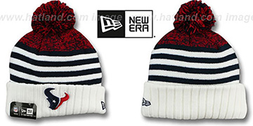 Texans SNOWFALL STRIPE Knit Beanie Hat by New Era