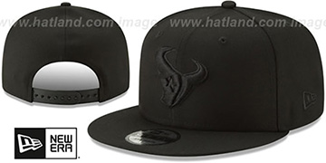 Texans TEAM-BASIC BLACKOUT SNAPBACK Hat by New Era