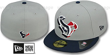 Texans TRACE-POP Grey-Navy Fitted Hat by New Era