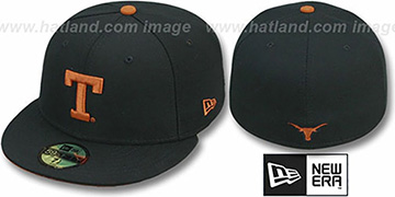 Texas 'NCAA-BASIC' Black Fitted Hat by New Era