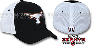 Texas 'SHORTSTOP' Fitted Hat by Zephyr - black-white