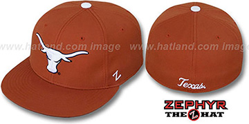 Texas 'SLIDER' Burnt Orange Fitted Hat by Zephyr