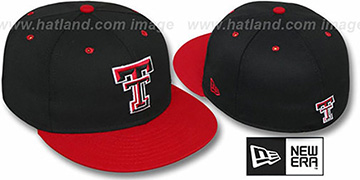 Texas Tech '2T NCAA-BASIC' Black-Red Fitted Hat by New Era