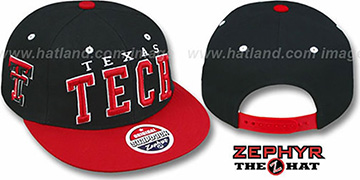 Texas Tech '2T SUPER-ARCH SNAPBACK' Black-Red Hat by Zephyr