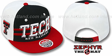 Texas Tech '2T SUPERSONIC SNAPBACK' Black-Red Hat by Zephyr