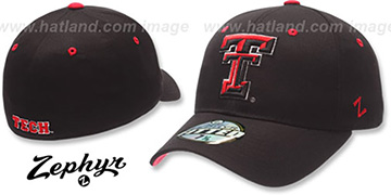 Texas Tech DH Fitted Hat by ZEPHYR - black