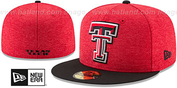 Texas Tech 'HEATHER-HUGE' Red-Black Fitted Hat by New Era