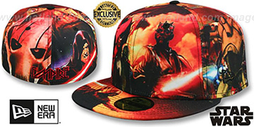 The Dark Side ALL-OVER EMPIRE Fitted Hat by New Era
