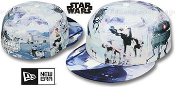 The Empire Strikes Back ALL-OVER BATTLE Fitted Hat by New Era