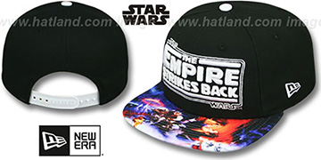 The Empire Strikes Back 'VIZA-PRINT SNAPBACK' Black Hat by New Era