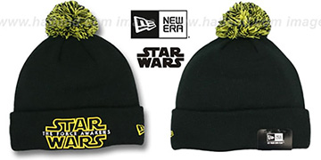 The Force Awakens 'POM-CUFFER' Black Knit Beanie Hat by New Era