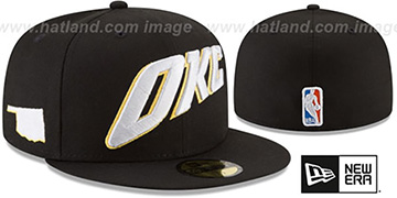 Thunder 'CITY-SERIES' Black Fitted Hat by New Era