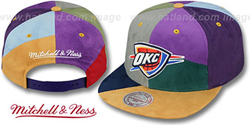 Thunder CUT-N-SEW PATCHES SNAPBACK Multi Hat by Mitchell and Ness