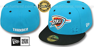 Thunder 'DURANT 2T-GAMMA' Blue-Black Fitted Hat by New Era