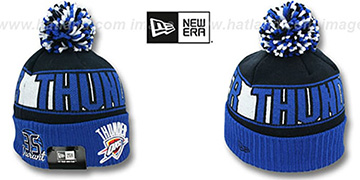 Thunder DURANT 'REP-UR-TEAM' Knit Beanie Hat by New Era