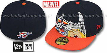 Thunder 'HERO-HCL' Navy-Orange Fitted Hat by New Era
