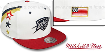 Thunder INDEPENDENCE SNAPBACK Hat by Mitchell and Ness