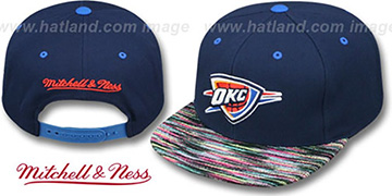 Thunder KNIT-WEAVE SNAPBACK Navy-Multi Hat by Mitchell and Ness
