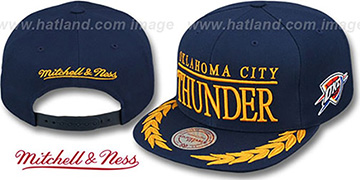 Thunder 'LAUREL SNAPBACK' Navy Hat by Mitchell and Ness