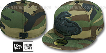 Thunder MIGHTY-XL Army Camo Fitted Hat by New Era