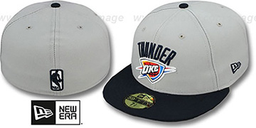 Thunder NBA-CHASE Grey-Navy Fitted Hat by New Era
