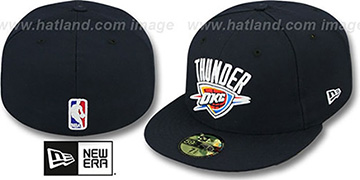 Thunder NBA-CHASE Navy Fitted Hat by New Era