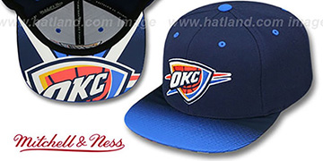 Thunder 'STOP-ON-A-DIME SNAPBACK' Navy-Blue Hat by Mitchell and Ness