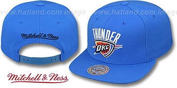 Thunder 'TEAM-BASIC SNAPBACK' Blue Hat by Mitchell and Ness