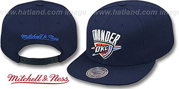 Thunder 'TEAM-BASIC SNAPBACK' Navy Hat by Mitchell and Ness