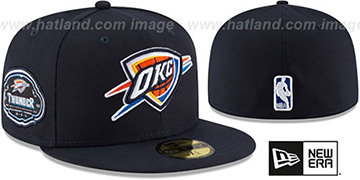 Thunder TEAM-SUPERB Navy Fitted Hat by New Era