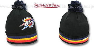 Thunder 'XL-LOGO BEANIE' Black by Mitchell and Ness