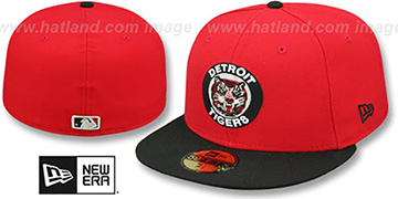 Tigers '1964-93 COOPERSTOWN' Red-Black Fitted Hat by New Era