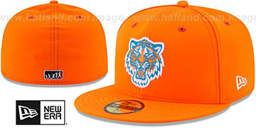 Tigers 2017 MLB LITTLE-LEAGUE Orange Fitted Hat by New Era