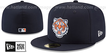 Tigers 2018 PROLIGHT-BP ALTERNATE Navy Fitted Hat by New Era