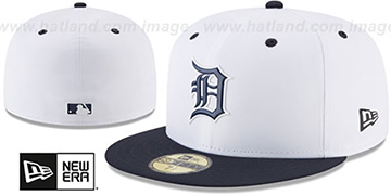 Tigers 2018 PROLIGHT-BP White-Navy Fitted Hat by New Era