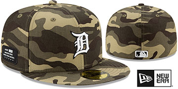 Tigers 2021 ARMED FORCES STARS N STRIPES Hat by New Era