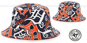 Tigers 'BRAVADO BUCKET' Hat by Twins 47 Brand