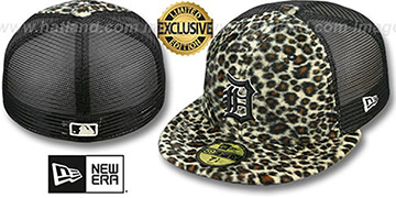Tigers CHEETAH ANIMAL-FUR MESH-BACK Fitted Hat by New Era
