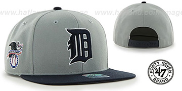 Tigers COOP SURE-SHOT SNAPBACK Grey-Navy Hat by Twins 47 Brand