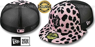 Tigers DALMATION 'ANIMAL-FUR MESH-BACK' Fitted Hat by New Era