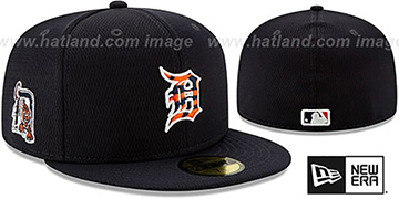 Tigers DASHMARK BP Navy Fitted Hat by New Era