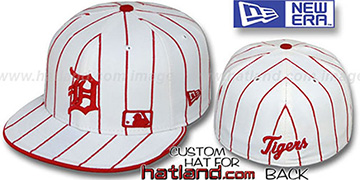 Tigers 'FABULOUS' White-Red Fitted Hat by New Era
