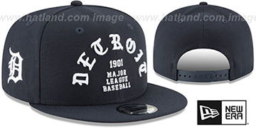 Tigers 'GOTHIC-ARCH SNAPBACK' Navy Hat by New Era