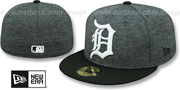 Tigers 'HEATHER-HUGE' Grey-Black Fitted Hat by New Era