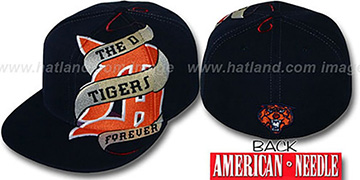 Tigers 'INKED' Navy Fitted Hat by American Needle