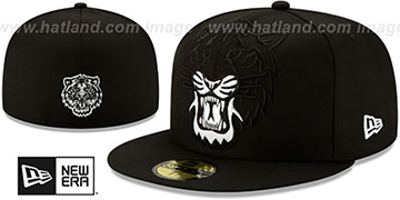 Tigers 'LOGO ELEMENTS' Black-White Fitted Hat by New Era